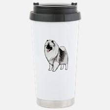 Keeshond Stainless Steel Travel Mug
