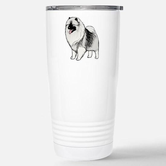Keeshond Stainless Steel Travel Mug