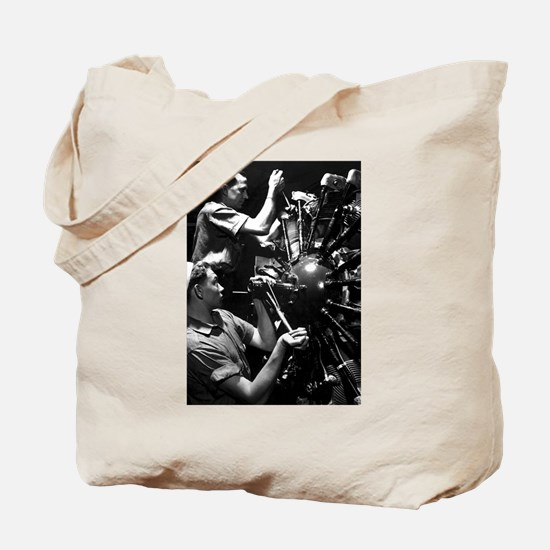CURTISS HELLDIVER ENGINE Tote Bag