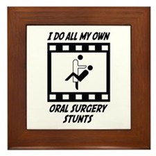 Oral Surgery Stunts Framed Tile