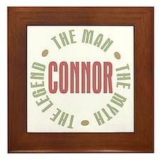 Connor Man Myth Legend Framed Tile
