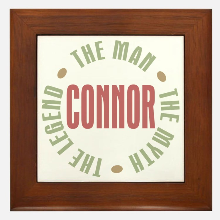 Connor Man Myth Legend Framed Tile