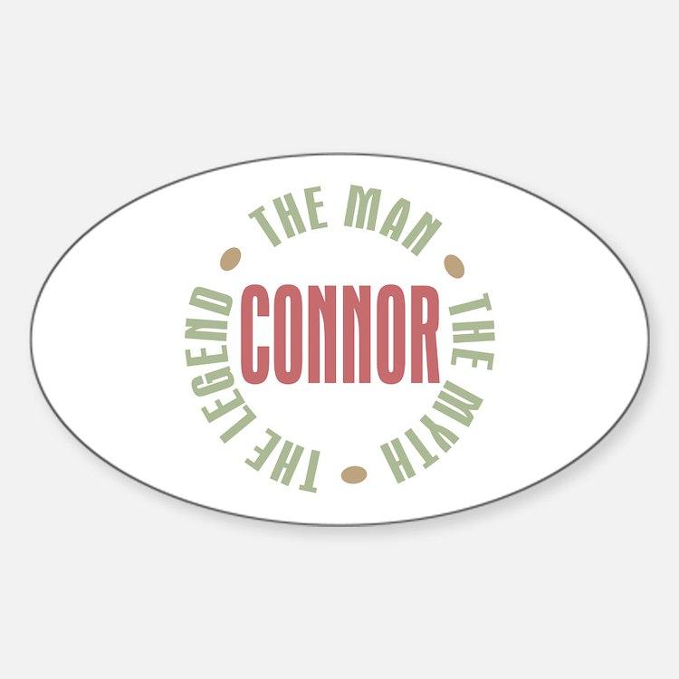 Connor Man Myth Legend Oval Decal
