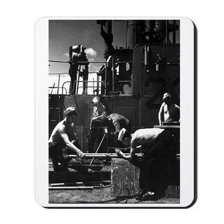 NAVY SUBMARINE CREWMEN Mousepad