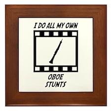 Oboe Stunts Framed Tile