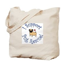 Black & Fawn Pug Rescue Tote Bag