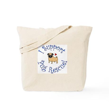 Black & Fawn Pug Rescue Tote Bag