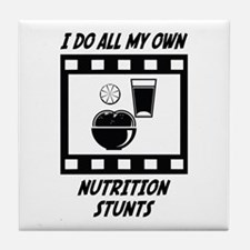 Nutrition Stunts Tile Coaster