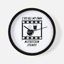 Nutrition Stunts Wall Clock
