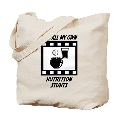 Nutrition Stunts Tote Bag
