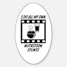 Nutrition Stunts Oval Sticker (10 pk)