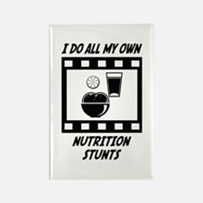 Nutrition Stunts Rectangle Magnet