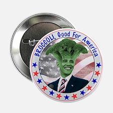 """Broccoli Obama 2.25"""" Button"""