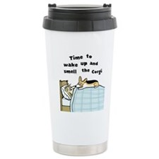 Wake Up & Smell the Corgi Travel Mug
