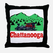 Chattanooga Train Throw Pillow