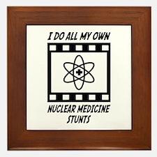 Nuclear Medicine Stunts Framed Tile