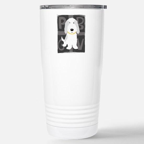 Grey & White PBGV Stainless Steel Travel Mug