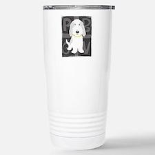 Grey & White PBGV Travel Mug