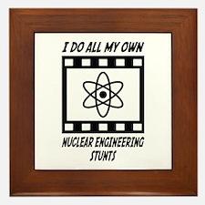 Nuclear Engineering Stunts Framed Tile