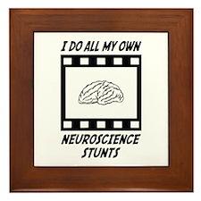 Neuroscience Stunts Framed Tile
