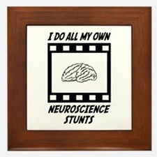Neuroscience Stunts Framed Tile