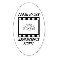 Neuroscience Stunts Oval Decal