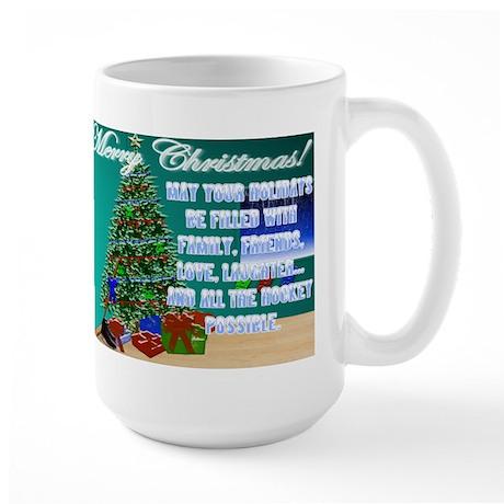 Christmas Hockey Cards & Gifts 2 Large Mug