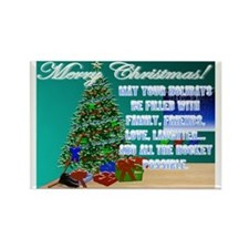 Christmas Hockey Cards & Gifts 2 Rectangle Mag