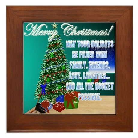 Christmas Hockey Cards & Gifts 2 Framed Tile