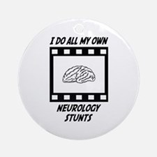 Neurology Stunts Ornament (Round)
