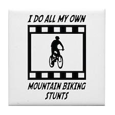 Mountain Biking Stunts Tile Coaster