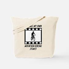Mountain Biking Stunts Tote Bag
