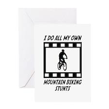 Mountain Biking Stunts Greeting Card