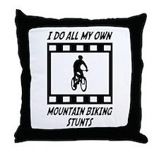 Mountain Biking Stunts Throw Pillow