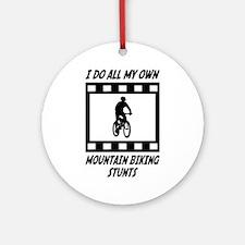Mountain Biking Stunts Ornament (Round)
