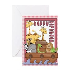 Noah's Ark Birthday Greeting Card