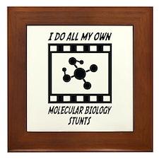 Molecular Biology Stunts Framed Tile