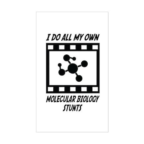Molecular Biology Stunts Rectangle Sticker