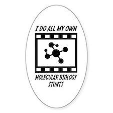 Molecular Biology Stunts Oval Decal