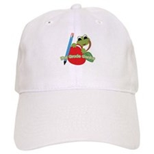 First Grade Genius Frog Baseball Cap