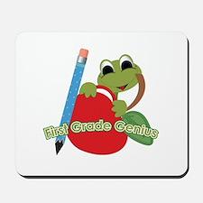 First Grade Genius Frog Mousepad