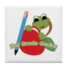 First Grade Genius Frog Tile Coaster