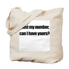 I lost my number ~  Tote Bag