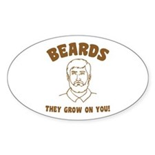 Beards Oval Decal