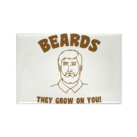 Beards Rectangle Magnet