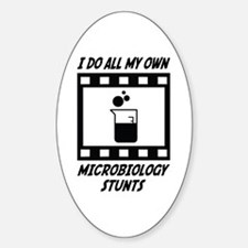 Microbiology Stunts Oval Decal
