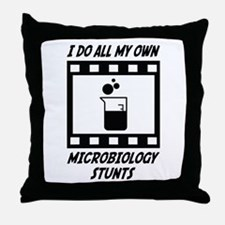 Microbiology Stunts Throw Pillow