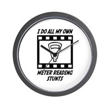 Meter Reading Stunts Wall Clock