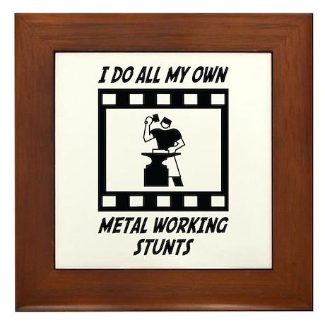 Metal Working Stunts Framed Tile