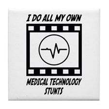 Medical Technology Stunts Tile Coaster